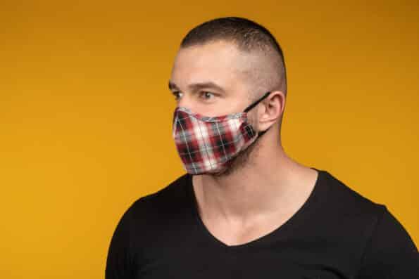 Mască de față 100% bumbac bărbat LIAM